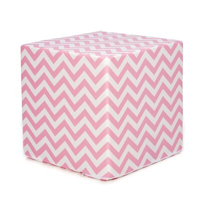 Swizzle Decorative Cube Ottoman Upholstery: Pink