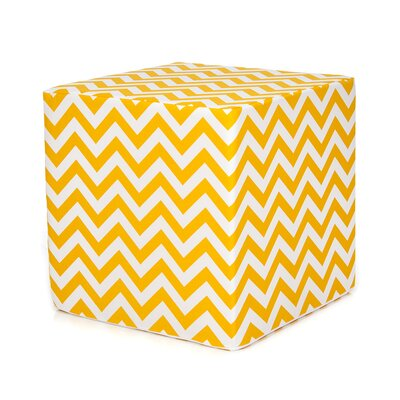 Swizzle Decorative Pouf Ottoman Upholstery: Yellow