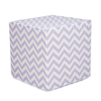 Swizzle Decorative Cube Ottoman Upholstery: Lavender