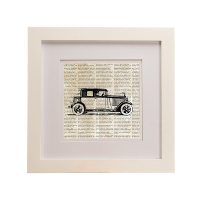 Traffic Jam Roadster Print Framed Graphic Art 90822