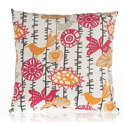 Calliope Bird Cotton Throw Pillow