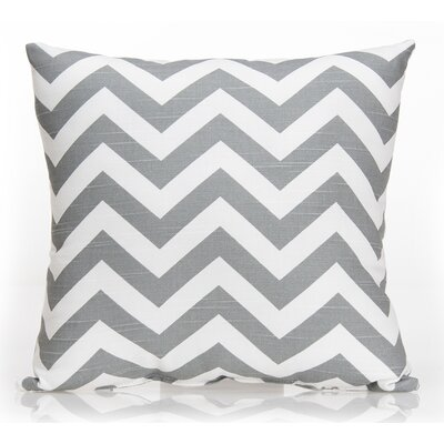 Swizzle Chevron Throw Pillow Color: Gray / White