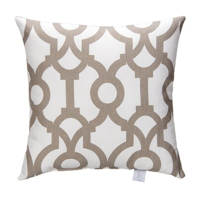 Soho Fretwork Cotton Throw Pillow