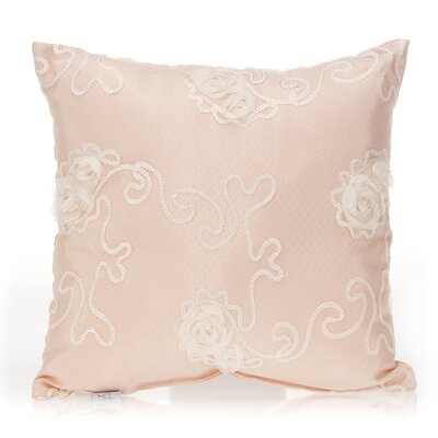 Lil Princess Floral Overlay Cotton Throw Pillow