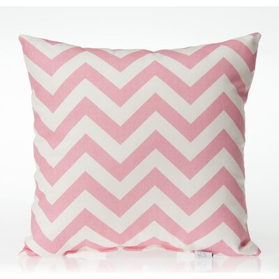 Swizzle Chevron Throw Pillow Color: Pink / White
