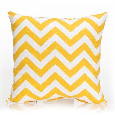 Swizzle Chevron Throw Pillow Color: Yellow / White