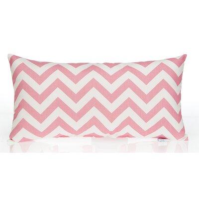 Swizzle Chevron Lumbar Pillow Color: Pink / White
