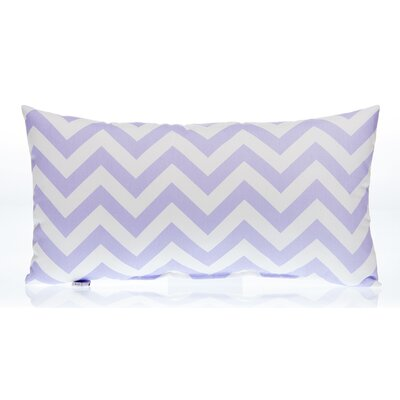 Swizzle Chevron Lumbar Pillow Color: Purple / White