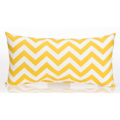 Swizzle Chevron Lumbar Pillow Color: Yellow / White