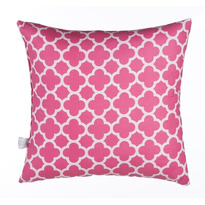 Pippin Quatrefoil Cotton Throw Pillow