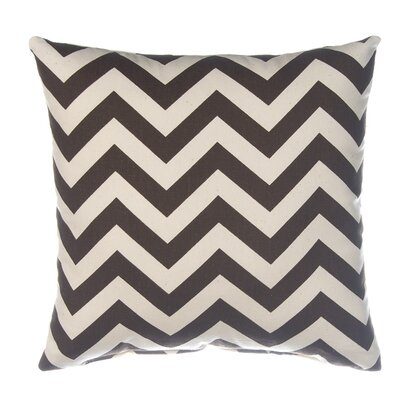 Swizzle Chevron Throw Pillow Color: Beige / Chocolate