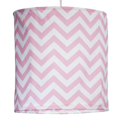Swizzle Hanging 14  Fabric Drum Pendant shade Color: Pink