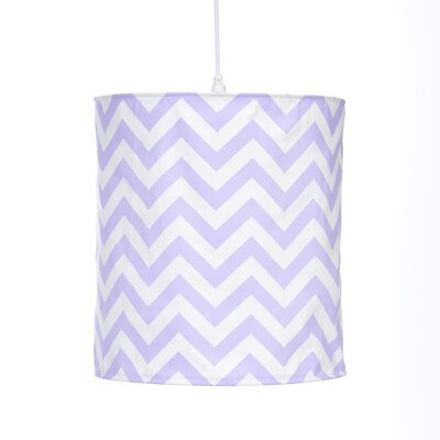 Swizzle Hanging 14  Fabric Drum Pendant shade Color: Purple