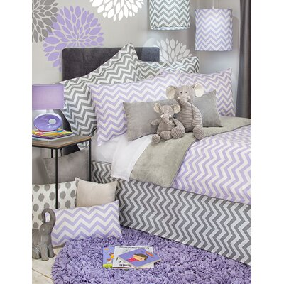 Swizzle Bed Skirt Size: Twin, Color: Purple