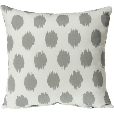 Swizzle Dot Throw Pillow Color: Gray / White