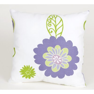 LuLu Flowers Cotton Throw Pillow