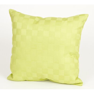 LuLu Pillow with Checker Pattern Cotton Throw Pillow