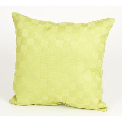 LuLu Pillow with Checker Pattern Cotton Throw Pillow