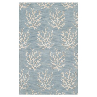 Escape Powder Blue Area Rug Rug Size: Rectangle 8 x 11