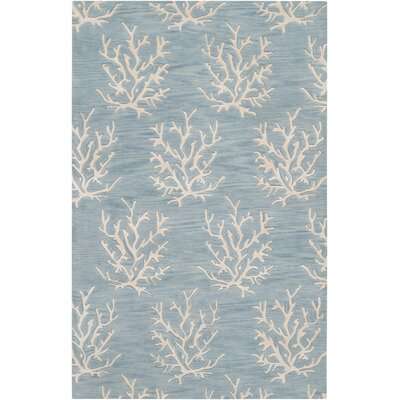 Escape Powder Blue Area Rug Rug Size: Rectangle 5 x 8