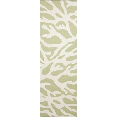 Boardwalk Lime & White Area Rug Rug Size: Runner 26 x 8