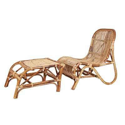 Rattan Kim Lounge Chair with Ottoman