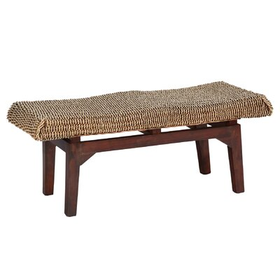 Long Seagrass Dining Bench