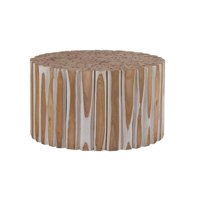 Round Teak End Table
