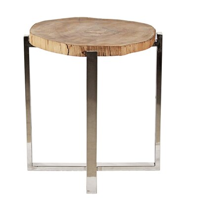 Stainless Frame End Table