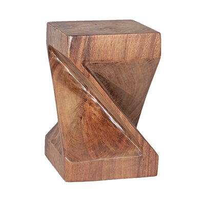 Natural Teak Twist End Table