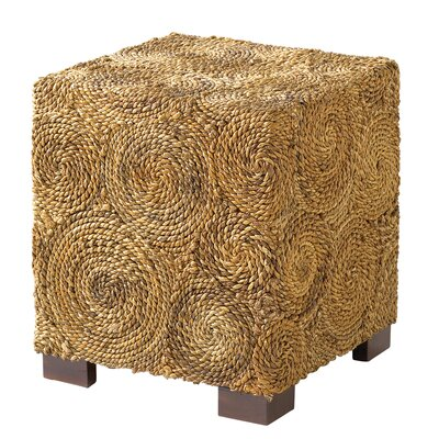 Square Banana Leaf Circle End Table