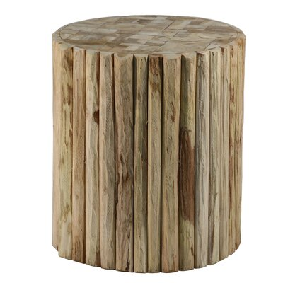 Round Natural Teak Wood Stool