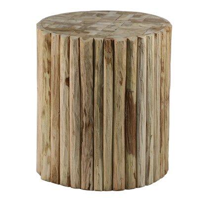 Round Natural Teak Wood Stool