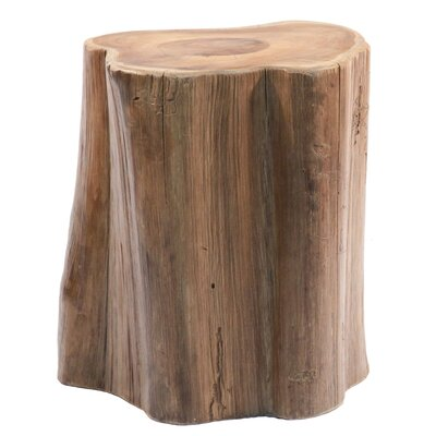 Teak Wood Tree Section Stool