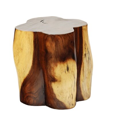 Natural Teak Clover Leaf End Table