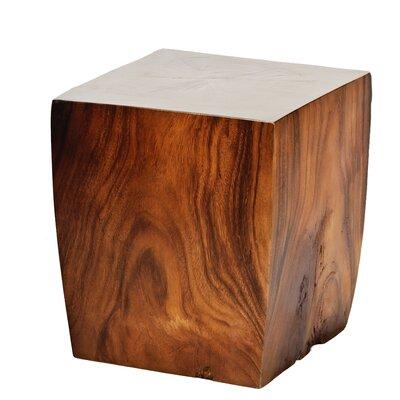 Natural Teak Square Taper End Table