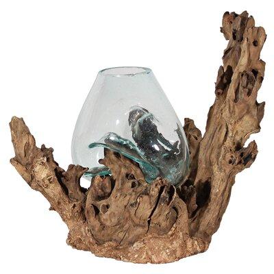 Glass Bowl on Drift Wood Sculpture