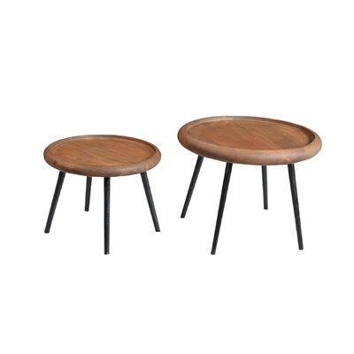 2 Piece Wafer End Table Set
