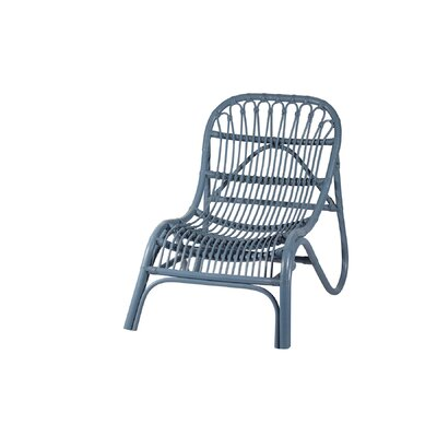 Rattan Lounge Chair Finish: Blue