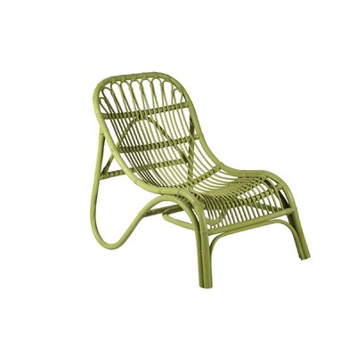 Rattan Lounge Chair Finish: Green