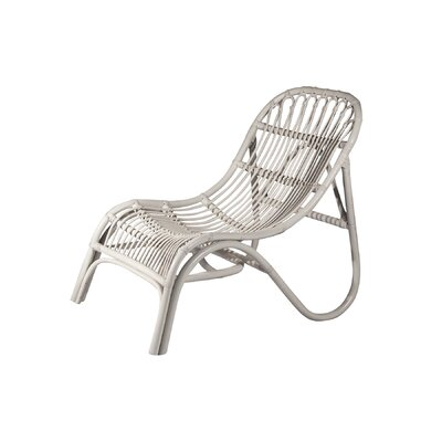 Rattan Lounge Chair Finish: White