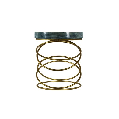 Miami Round Spiral End Table