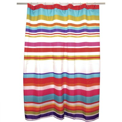 Happy Stripe Shower Curtain