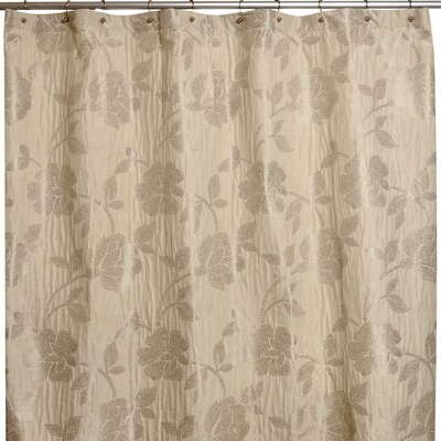 Embroidered Flower Shower Curtain