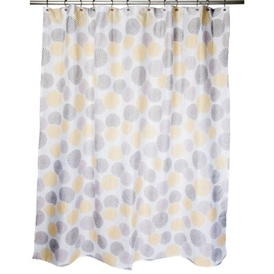 Chelwood Shower Curtain Color: Gray/Yellow