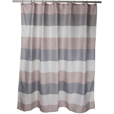 Evan Shower Curtain Color: Beige