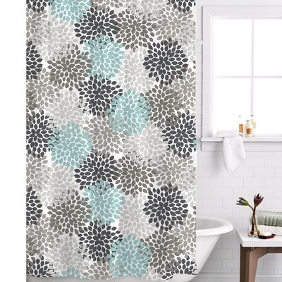 Charlotte Shower Curtain Color: Blue