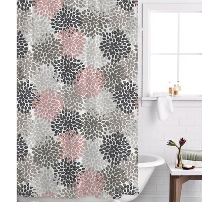 Charlotte Shower Curtain Color: Pink