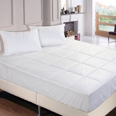 Polyester Microfiber Down Alternative Water and Stain Resistant Mattress Pad Size: Queen
