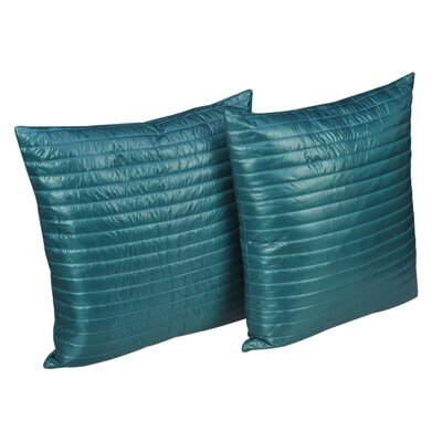 Quilted Decorative Indoor/Outdoor Throw Pillow Color: Peacock